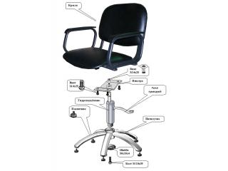 Из чего состоит парикмахерское кресло?