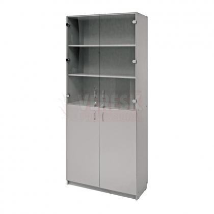 Шкаф №2 двойной со стеклом