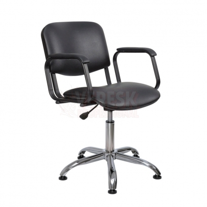 Парикмахерское кресло КОНТАКТ ПЛЮС на хромированном пневмоподъемнике