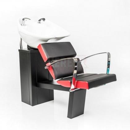 Мойка парикмахерская СИБИРЬ с креслом ЛИГА и глубокой раковиной