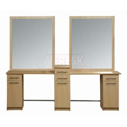 Парикмахерское зеркало Саба Бис двойное
