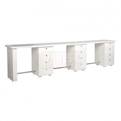 Тройной маникюрный стол Глория